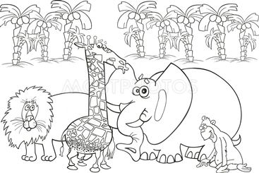 african animals for coloring