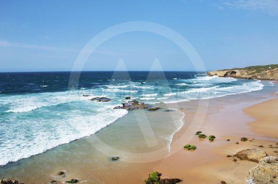 View of the Monte Clerigo  Beach in the Costa Vincentina...