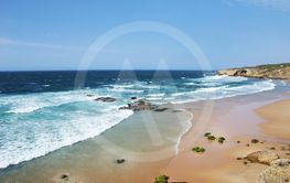 View of the Monte Clerigo  Beach in the Costa Vincentina...