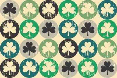 St Patrick's day shamrock seamless pattern