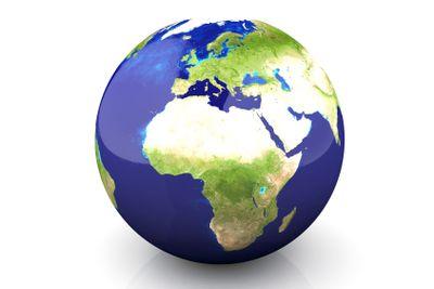 Globe - Europe, Africa