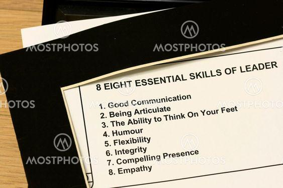 8 essential skills of leader