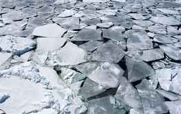 Sea ice on Antarctica