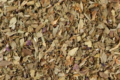 Dried Basil Leaves Macro