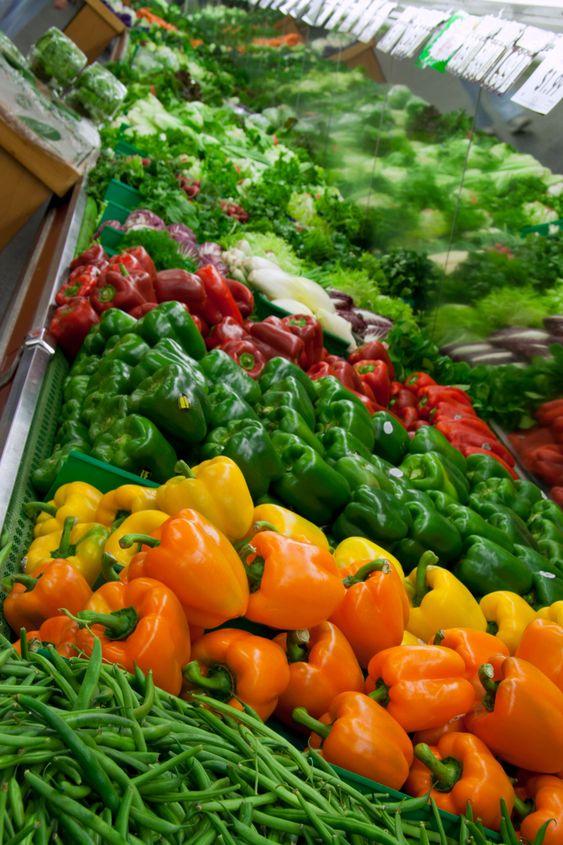 Stå med grönsaker