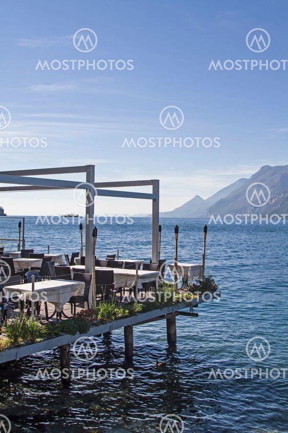 Airy lakeside terrace