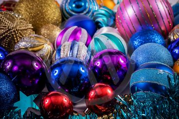 Glass toys on the Christmas tree for the new year....