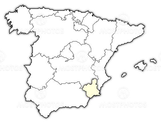 Steffen Hammer N Kuva Kartta Espanjan Korostettu Mostphotos