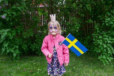 Nationaldagen firas, Upplands Väsby.