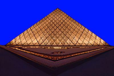 france,paris : louvre pyramid