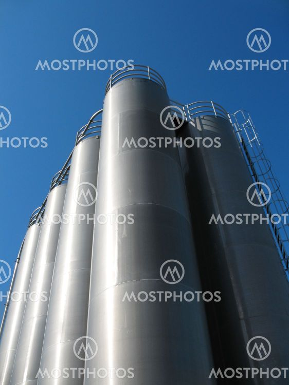 High tanks of silvery color 2