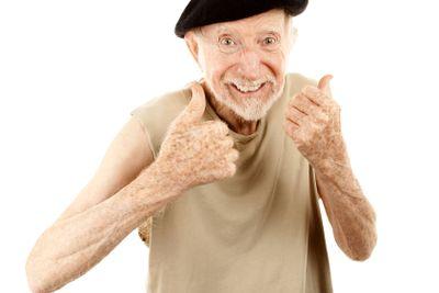Senior man in beret