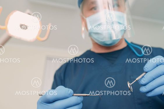 Dentistry. Dental clinic. Doctor and patient. Teeth health.
