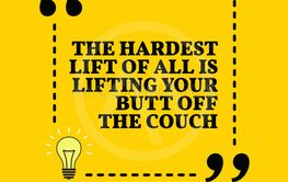 Inspirational motivational quote. THe hardest lifet of...