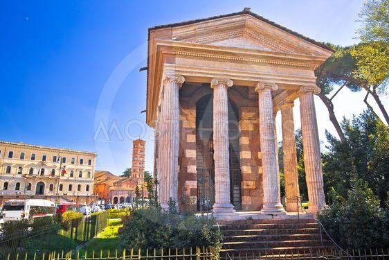 Temple of Portuno acient landmark of eternal city of Rome