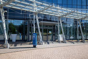 Main entrance to Nokia Company head office building