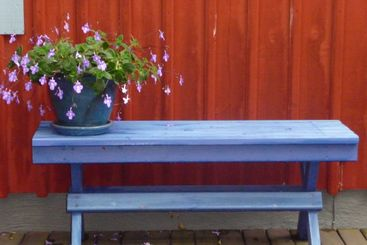 bench with flower