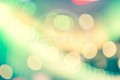 Bokeh street light Vintage background
