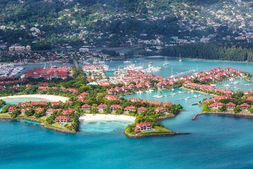 Seychelles Eden Island beach Mahé Mahe vacation ocean...
