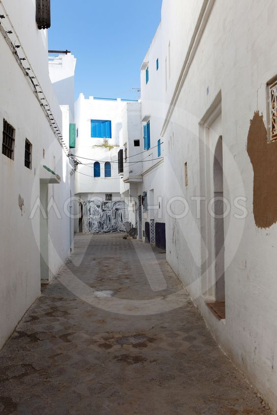 Alley in Assila, Morocco