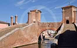 The walls of the village of Comacchio - Italy