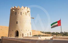 Liwa Fort With UAE Flag