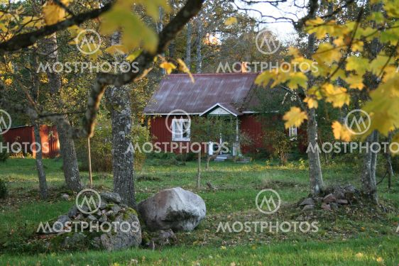 Sommartorpet in autumn colours