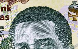 Lynden Pindling a portrait from Bahamian money