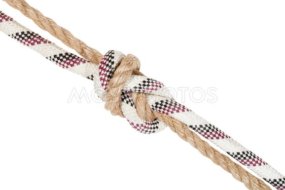 another side of flemish bend joining two ropes