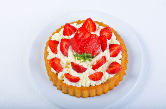 strawberry pie and  with cream