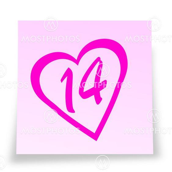 Valentine's day reminder sticky notelet