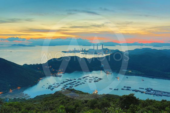 view of Lamma from  Ling Kok Shan