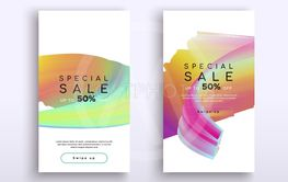 Abstract mobile phone color sale background set