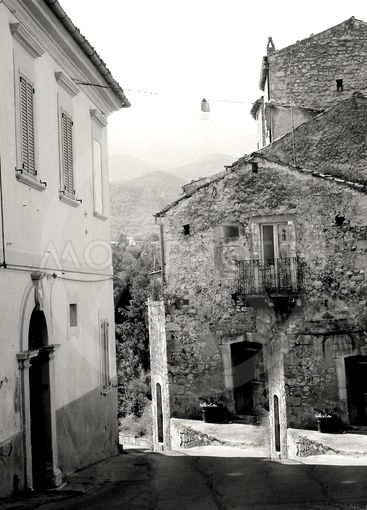 View of old houses in a small town