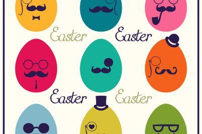 Easter vintage eggs. Vector illustration.
