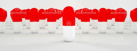 3d rendering of red and white pills