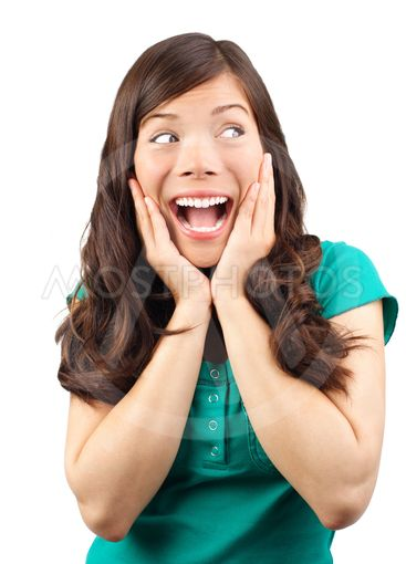 Surprise - Woman excited