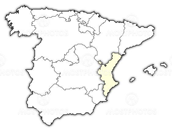 Map Of Spain Valencia.Map Of Spain Valencian Com By Steffen Hammer Mostphotos