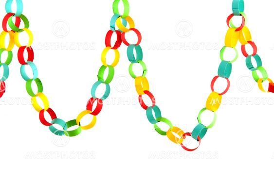 Paper chain for celebration