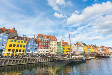 Colorful houses in Copenhagen old town