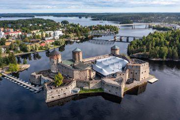 Medieval Castle Olavinlinna in Savonlinna, Finland.