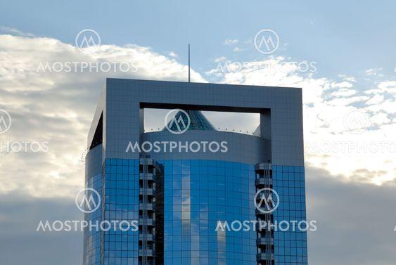 Moderne stor højde kontorbygning