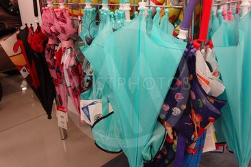 Children's umbrellas in the store