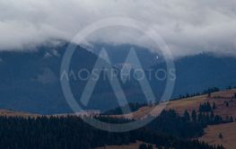 Ukrainian Carpathian Mountains. Autumn. Panorama.