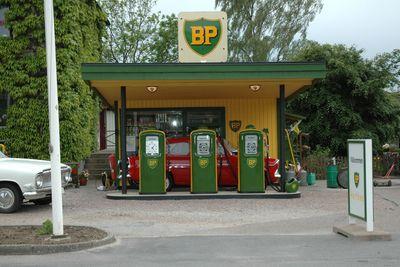 Old petrol station,