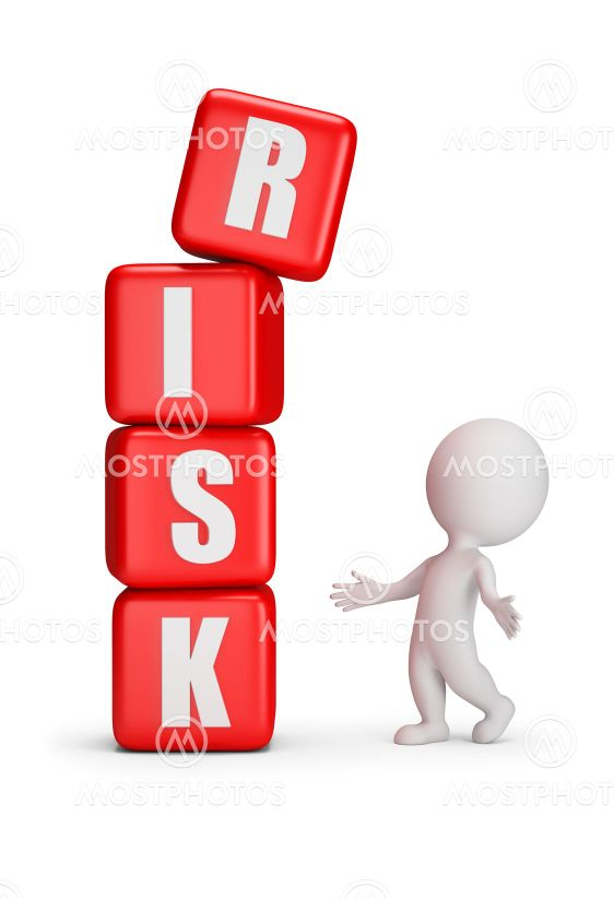 3d small people - risk