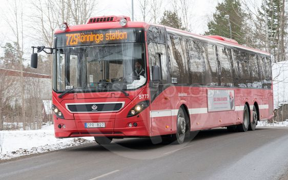 Buss 725 mellan Tumba & Rönninge