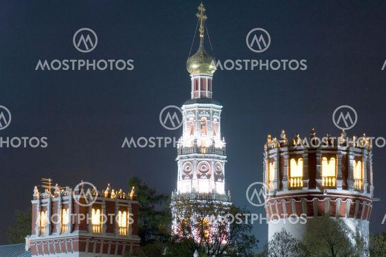 monastery towers close up