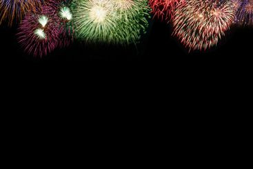 New Year's Eve fireworks background copyspace copy space...