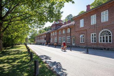 The main street in the Fiskars village